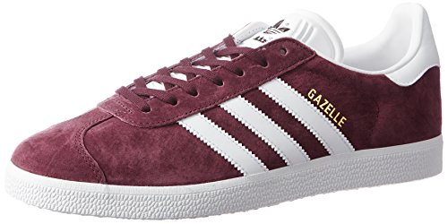 adidas Herren Gazelle Gymnastikschuhe, Braun (Maroon/ftwwht/Goldmt), 42 EU