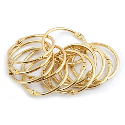 Spirella Duschvorhangringe 12 Stück Chrom Ringo small - Passend für alle gängigen Duschvorhangstangen Gold