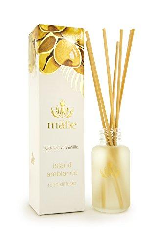 Malie Coconut Vanilla Island Ambiance Reed Diffuser, immerse yourself in Hawaiian aromatherapy
