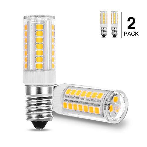 Fulighture E14 Bombilla LED campana extractora, Rosca Edison Pequeña, 5W Equivalente a Bombillas Halógena de 40W Blanco Cálido 3000K 400lm, 360 ° Ángulo de Haz, No Regulable, 2 Unidades