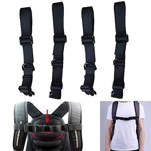 Lezed 2 Stück Verstellbarer Brustgurt für Rucksack Schultasche Verstellbarer Brustgurt Heavy Strapazierfähiger Brustgurt Verstellbarer Brustgurt Strapazierfähiger Nylon Schwarz Zum Jogging und Wandern