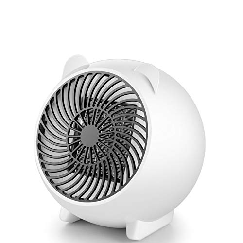 Portable Space Electric Heater, 250W Mini Portable Fan Heating, Table Heater PTC Ceramic Heater, With Overheat and Tip-over Protection Suitable for Home and Office Bedroom Baby Dorm