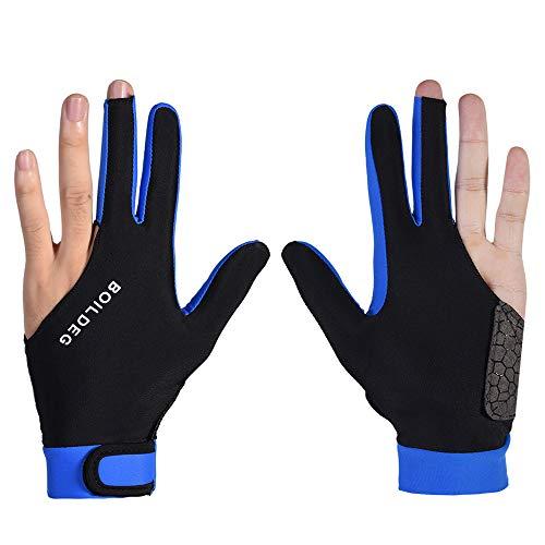 Eickawa 1 stück Finger Billard Handschuhe 3 Finger Zeigen Handschuhe Männer & Frauen Linke Und Rechte Hand Für Billard Snooker Queue Sport,M Color 01