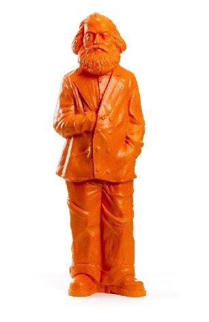 Skulptur Karl Marx, orange