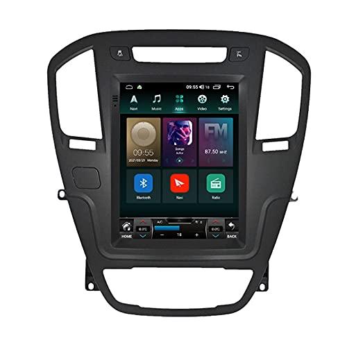 ADMLZQQ Android 9/11 Radio Estéreo para Opel Insignia 2008-2013 Navegación GPS Reproductor Multimedia Receptor de Video FM WiFi USB SWC Enlace Espejo Bluetooth Cámara Trasera,Ts6