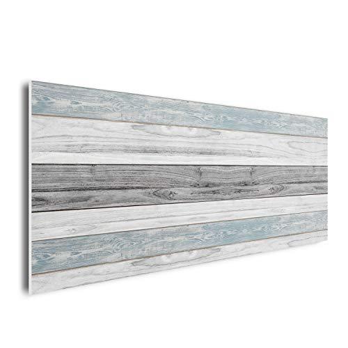 DON LETRA Cabecero para Cama de 135 cm, Madera Gris&Azul, Cabecero Ligero y Económico, PVC, Diseños Originales, 145 x 60 x 1 cm, CM-040