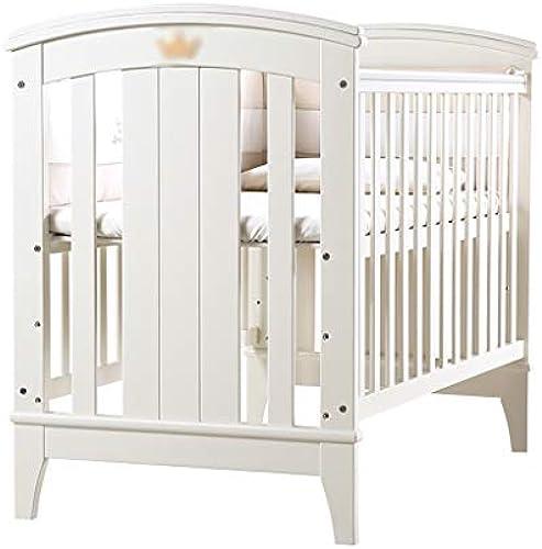 Babybett Babybett Massivholz EuropäischenStil Multifunktions Spiel Bett Shaker (Farbe   Weiß Größe   106  63  100cm)