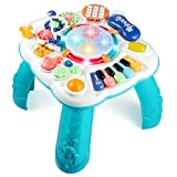 BACCOW Baby Toys, Activity Table for Baby 6 to 12-18 Months, Learning Musical Toddler Toys for 1 2 3 Year Old Boys Girls Gifts