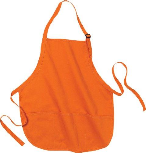 Port Authority Medium Length Apron with Pouch Pockets. A510, Orange