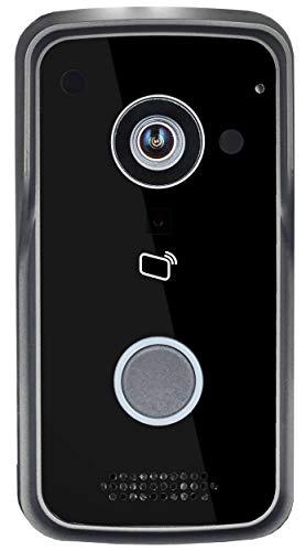 Goliath WLAN IP video deurintercom, deurbel, intercomsysteem, buitenstation met 1 megapixel camera, RFID, POE, draadloze verbinding, deuropener-functie, nachtzicht, 1 familiehuis, mobiele app