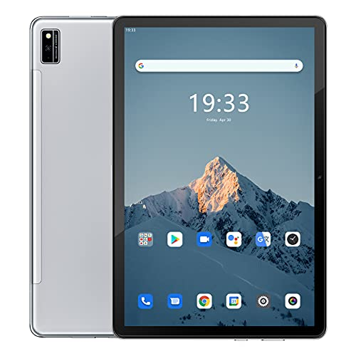 Tablet 10 Zoll,Blackview Tab10 Android 11 Octa Core 4G LTE /5G WiFi, 4GB RAM + 64GB ROM (Skalierbar Auf 128G), 7480mAh Akku, 13MP + 8MP Kamera, 1920x1200 FHD+,Face ID/Dual SIM/Bluetooth/OTG