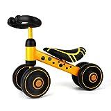 bici senza pedali bici senza pedali per bambini 12 anni-36 mesi bici senza pedali senza pedali giocattolo velo senza pedale regalo per bambini 1 anno (yellowspot)