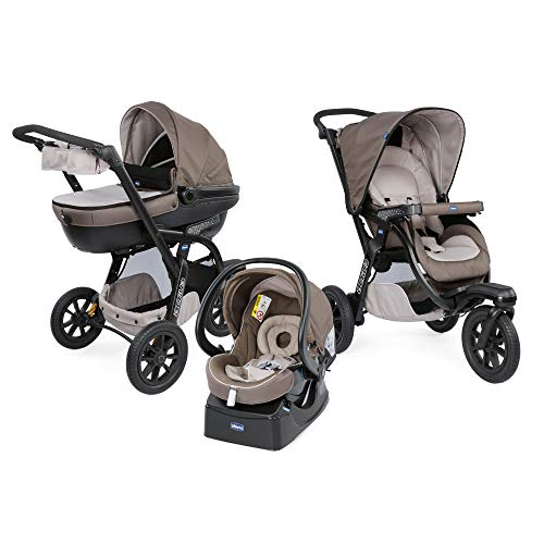 Chicco Trio Activ3 Top - Sistema Modulare con Car Kit, Marrone (Dove Grey)