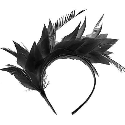 BABEYOND 1920s Fascinator 20s Gatsby Feather Headband Kentucky Derby Headpiece for Cocktail Wedding Tea Party
