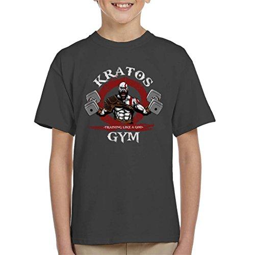 Cloud City 7 Kratos Gym Training Like A God of War Kid's T-Shirt