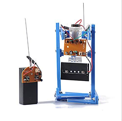 [リトルスワロー] DIY 組立 ロボット 工作キット 知育玩具 電動 こども おもちゃ ギフト プレゼント 電動ロボット キット プラスチック モーター 高学年 玩具 (2足リモコン)
