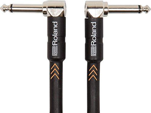Roland Black-Serie Patch/Pedal-Kabel – gewinkelte 6,3-mm-Klinkenstecker, Länge: 1m – RIC-B3AA