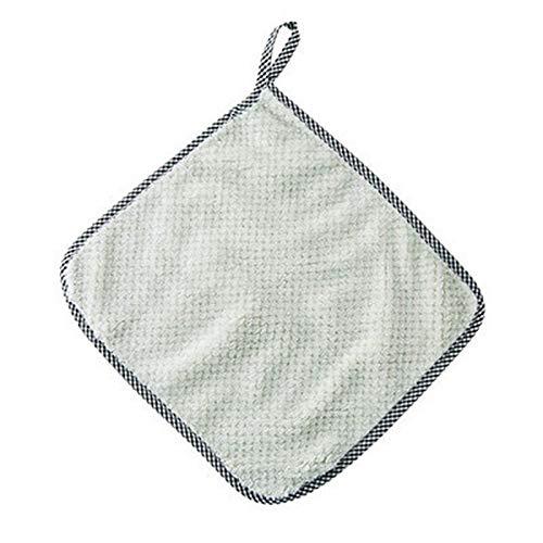 Toallas de mano colgantes de lana de coral, toallas de limpieza de cocina, trapos absorbentes domésticos que no desprendan pelusa, paños de cocina, toallas para el suelo