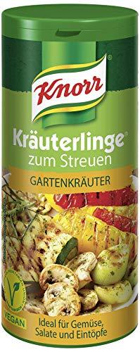 Knorr Kräuterlinge Gewürzmischung Gartenkräuter (Harmonische Kräutermischung zum Streuen für Salat oder Eintopf - vegan ), 1 x 60 g