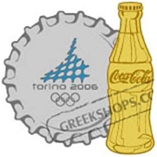 Torino 2006 Coca Cola Nickel Cap & Gold Bottle Pin