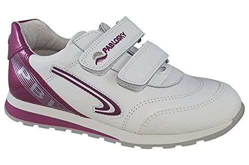 Pablosky , Chaussures spécial tennis pour fille Blanc BLANCO