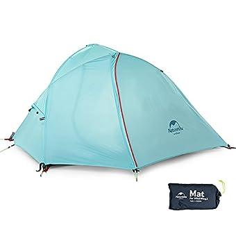 Hawk Zing NatureHike 1人用アウトドア3シーズンテント 超軽量キャンピングテント(light blue)