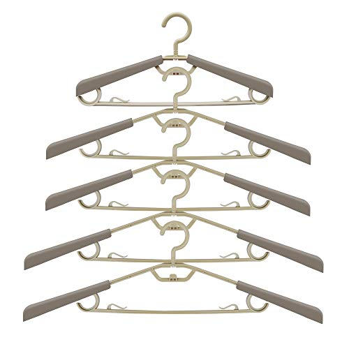 ipow Cascading Magic Space-Saving Hangers with Extendable Arms, 5 Pack Clothes Hangers Great Closet Organizer & Storage for Suits,Dress,Jacket,Underwear and Shirt