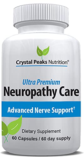Crystal Peaks Nutrition Alpha Lipoic Acid - Pure ALA 600mg 60 Vegetable Caps - Zero Synthetic Additives, Stearates, Fillers - Supports Nerve Health, Tingling Feet, Hands, Limbs, Healthy Blood Sugar