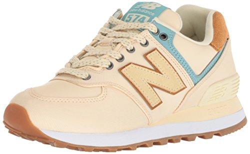 New Balance Womens 574 Core Sneaker, Vanilla, 9.5 W US