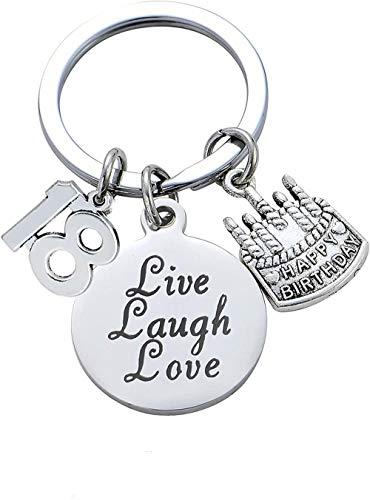 RMI Schlüsselanhänger für Damen, Teenager, Mädchen, Schmuck, Geschenke, 18. Geburtstag