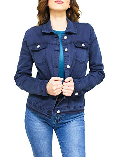 NUOVO only Donna Jeans giacca transizione giacca Giacca leggera Casual Blue Denim Jacket