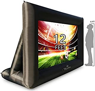 Talvania 12 Feet Inflatable Projector Screen for Outdoor...