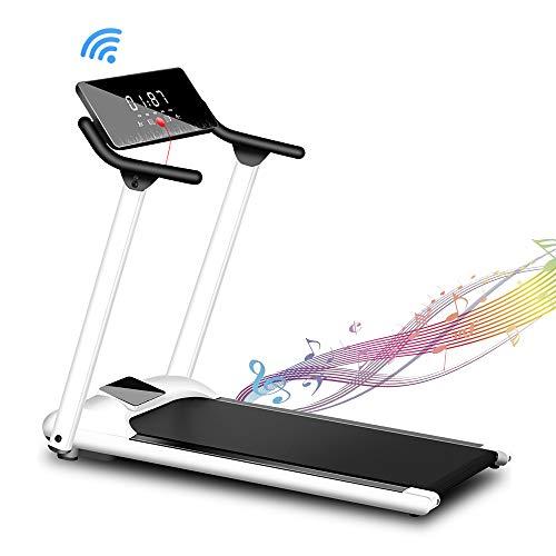 3,5 PS Laufband für zu Hause - Klappbare Laufbänder mit Musikwiedergabe - Laufgerät mit Einer Geschwindigkeit von bis zu 10 km/h - Heimtrainingsgerät mit Sport-App, Bluetooth-Lautsprecher