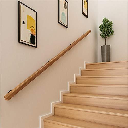 1 ft - 20 ft. Handrail -Complete Kit. Pine Anti-Slip Stair Handrail, Home Kindergarten Guardrail Corridor Against The Wall Elderly Villa Construction Loft Children Pine Handrail, Size: 5ft