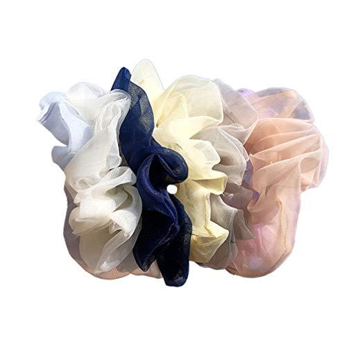 Minkissy 5 Pcs Cheveux Chouchous Gaze Chouchous En Mousseline De Soie Chouchous Élastique Cheveux Cravates Cordes Cheveux Accessoires pour Femmes Filles Casual Party Dress