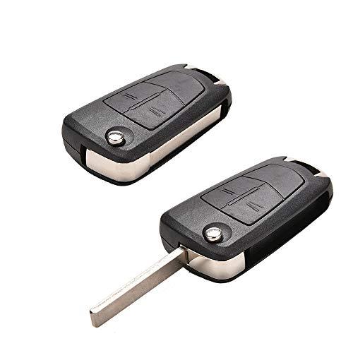 Cubierta de la Llave del Coche 2 Botón Nuevo Caso dominante Plegable Fit tirón for el reemplazo Vauxhall Corsa Astra Vectra Zafira TM Llave del Coche de la Cubierta del Caso Fob Fibra de Carbon