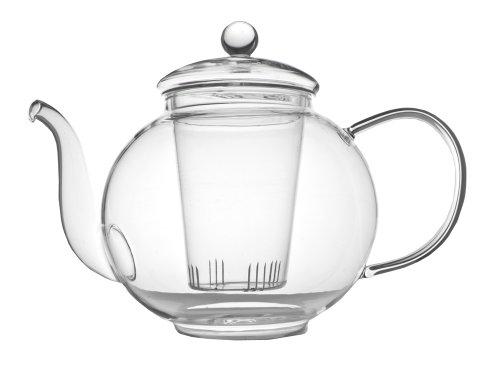 Verona eenwandige glazen theepot 1,5 l incl. filter