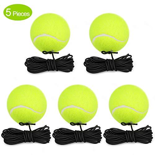 Fostoy Pelota de Tenis con Goma Elastica, 5PCS Pelota de Rebote Tenis...