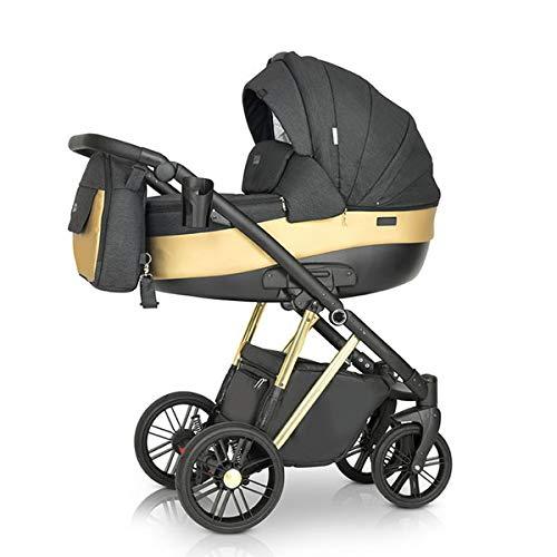 Krausman Kinderwagen 3 in 1 LEXXO Gold Kombikinderwagen Babyschale Babywanne Sportwagen Design Made In Germany