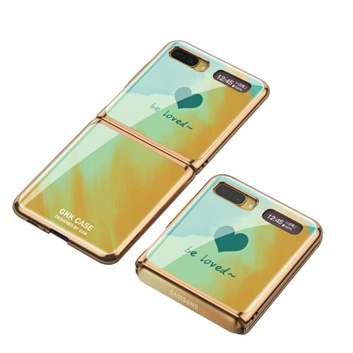 Estuche de lujo para teléfono móvil de vidrio plegable adecuado para Samsung Galaxy Z Flip 5G Cubierta de teléfono de negocios pintada Proteger el borde del revestimiento de la carcasa