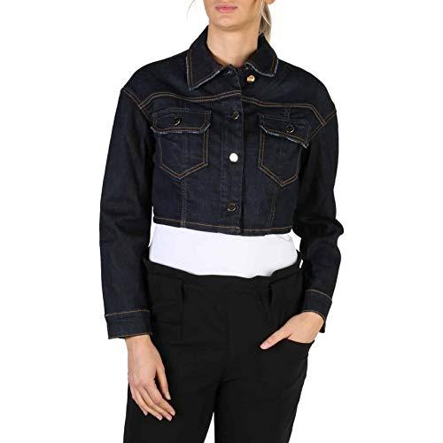 Guess Giubbotti Geena Crop Jacket Chaqueta vaquera, Azul (Kean Kean), X-Small para Mujer
