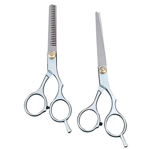 UEETEK 2pcs salón del peluquero profesional corte de cabello adelgazamiento tijeras tijeras peluquería establece