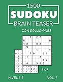1500 Sudoku Brain Teaser 9x9 con soluciones Nivel 5-6 Vol. 7