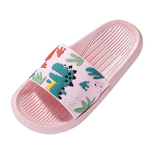 Chanclas niño niña 3-10 años Antideslizante Suave cómodos Zapatillas niño Verano de Playa Piscina 2021 Zapatillas de Estar por casa Casual Sandalias niño con Estampado de Dinosaurio Zapatos niño