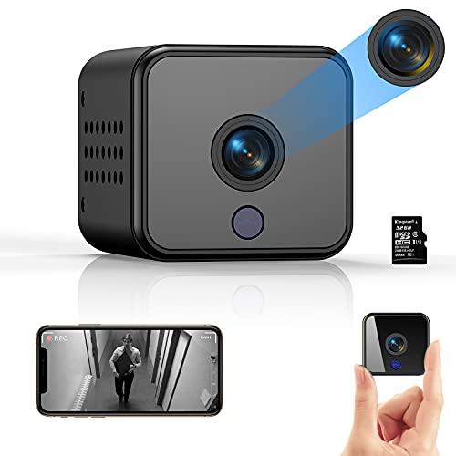 Telecamera Nascosta, ACTITOP WiFi Microcamera Spia, 1080P Full HD Camera Wi-Fi Interno Senza Fili con Visione Notturna Piccole Videocamera di Sorveglianza, Rilevamento di Movimento per Auto, Esterno