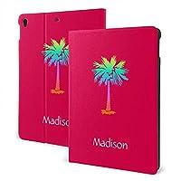 SORA ネオンやし熱帯夏 明るいピンク iPad pro 11インチ ケース (2020モデル) ペンホルダー付き スタンド機能 保護カバー オートスリープ機能 軽量 全面保護型 傷防止 手帳型