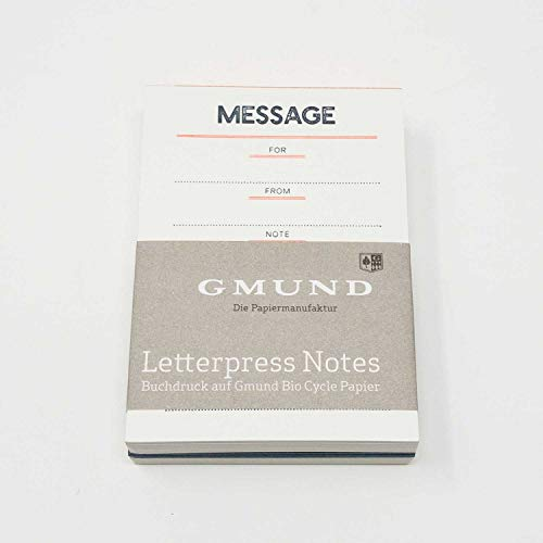 Gmund Letterpress Notes