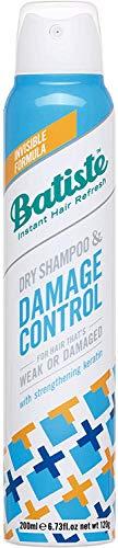 Batiste - Shampoo a secco per capelli deboli o danneggiati, formula con cheratina rinforzante, 200 ml