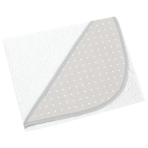 bebelindo couche de bain pour bébé (100 x 100 cm) Star Gris