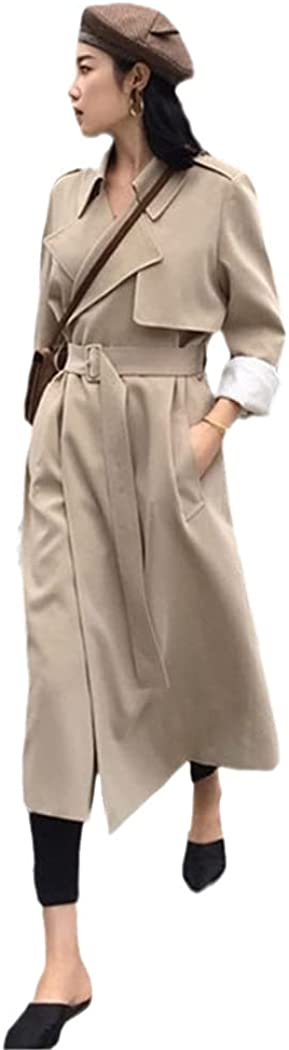 Spring Trench Max 60% OFF Coat High Street Stre Loose Max 46% OFF Women Worker Outerwear